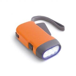 Lampe dynamo publicitaire - Orange - 3LED