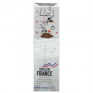 Marque-page biodégradable personnalisé avec graines - Pavillon France - BIOMARQUE