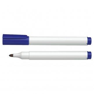 Marqueur permanent personnalisable en plastique recyclé - bleu et blanc - PERMANENT MARKER
