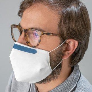 Masque réutilisable publicitaire en coton antibactérien - En situation
