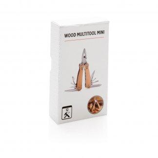 Mini-Outil pliable 12 fonctions en bois promotionnel - boite - MINIWOOD