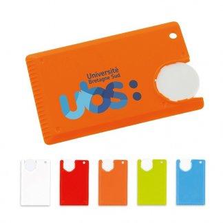 Mini gratte-givre carte de crédit promotionnel en plastique polystyrène choc - Toutes couleurs