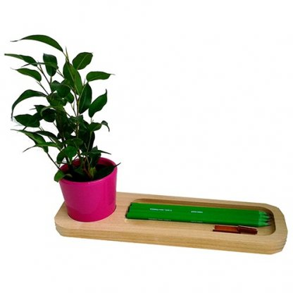 Mini Plante Dans Pot Et Plateau En Bois Publicitaire Pot Rose LE PLATEAU NATURE
