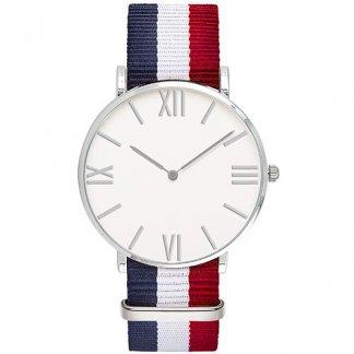 Montre tendance publicitaire - bleu, blanc, rouge - DANDY