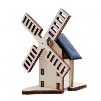 Moulin solaire promotionnel en bois à monter