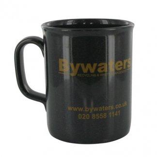 Mug 275ml publicitaire en plastique recyclé - gris anthracite - THEO