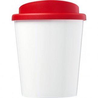 Mug double paroi personnalisé en polypropylène - 250ml - rouge - BRITE