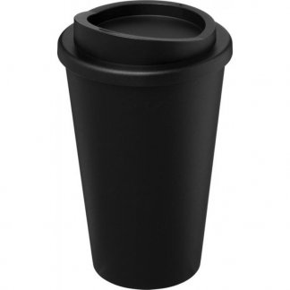 Mug double paroi publicitaire - en polypropylène - 350ml - entier - RECYCLE