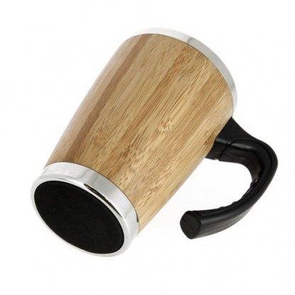 Mug Isotherme 330ml Publicitaire En Bambou Dessous BATCH