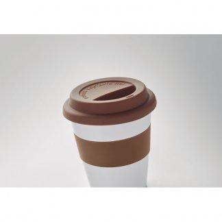 Mug personnalisable avec couvercle en PLA de maïs bio-sourcé - 350ml - Dessus - NAN