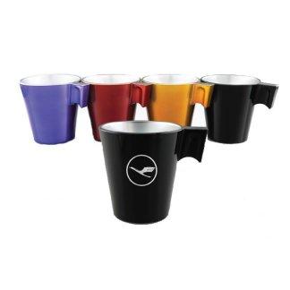 Mug promotionnel 220ml en verre trempé teinté métal - 4 couleurs