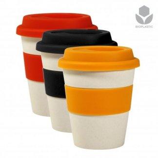 Mug promotionnel avec couvercle en fibre de bambou et silicone - 350ml - ECOMU