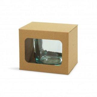 Mug publicitaire en verre recyclé - 350ml - box - GLOSSY