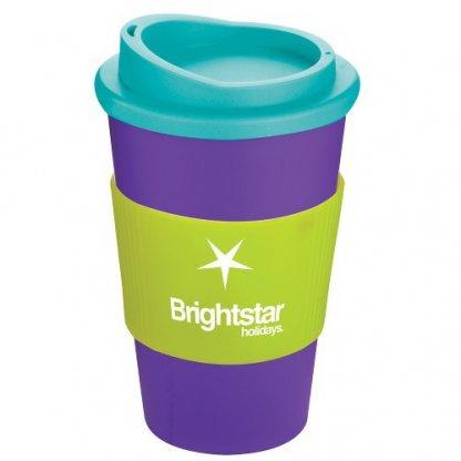 Mug Thermos Publicitaire 350ml éco Conçu Vert Violet Turquoise AMERICANO
