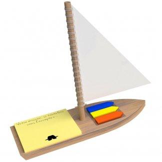 Notes adhésives promotionnelles sur bateau en bois - BATEAU