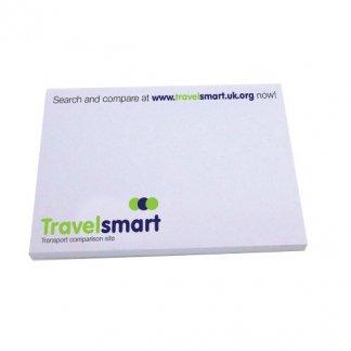 Notes adhésives publicitaire en papier recyclé - agence voyages - STICKYMATE