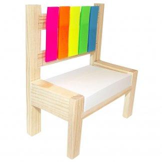 Notes adhésives sur chaise en bois publicitaire - CHAIR NOTE
