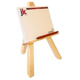 Notes adhésives sur chevalet en bois publicitaire - L'ARTISTE