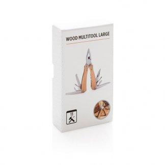 Outil pliable 13 fonctions en bois promotionnel - boite - BIGWOOD