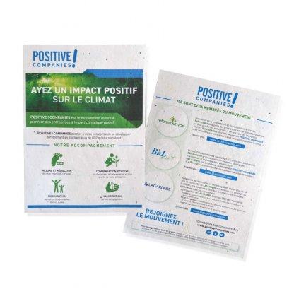 Papier Biodégradable Personnalisable à Planter Avec Graines 3 Formats Produrable TAPIS DE SEMIS