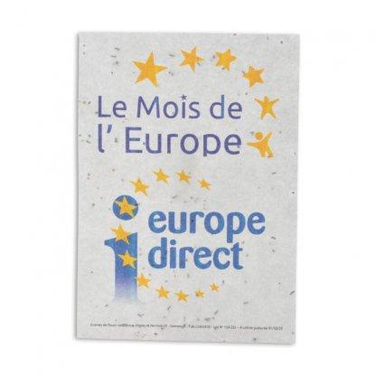 Papier Biodégradable Promotionnel à Planter Avec Graines 3 Formats Europe TAPIS DE SEMIS