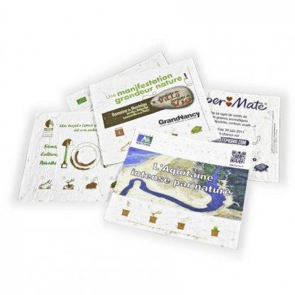 Papier Biodégradable Promotionnel à Planter Avec Graines 3 Formats Groupe TAPIS DE SEMIS