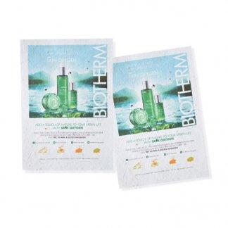Papier biodégradable publicitaire à planter avec graines - 3 formats - Biotherm - TAPIS DE SEMIS