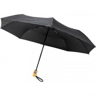 Parapluie personnalisable en bouteilles plastiques recyclées - noir - BO