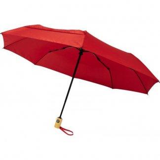 Parapluie personnalisable en bouteilles plastiques recyclées - rouge - BO