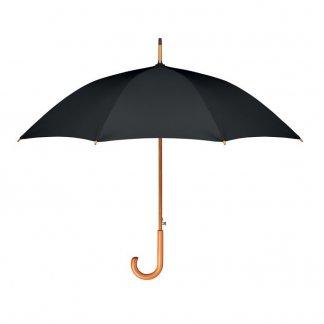 Parapluie personnalisé en bouteilles plastiques recyclées - noir - CUMULI