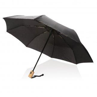Parapluie pliable personnalisable en bouteilles plastiques recyclées - Noir - XD RPET