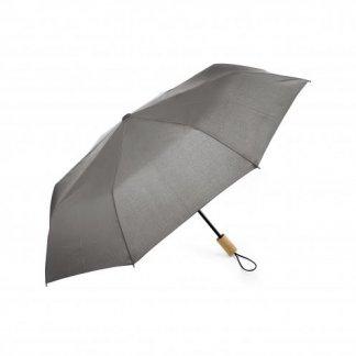 Parapluie pliable promotionnel en bouteilles plastiques recyclées - gris - ECORAIN