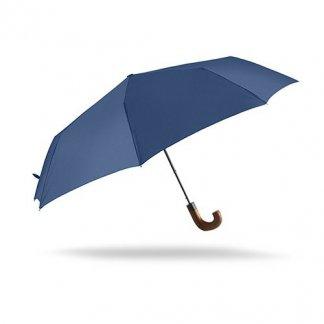Parapluie pliable publicitaire en PET recyclé - bleu - CANBRAY