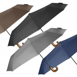 Parapluie pliable publicitaire en bouteilles plastiques recyclées - 4 couleurs - CANBRAY