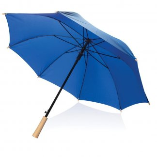 Parapluie tempête publicitaire en bouteilles plastiques recyclées - Bleu - XD RPET