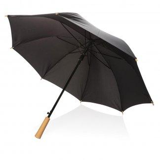 Parapluie tempête publicitaire en bouteilles plastiques recyclées - Noir - XD RPET