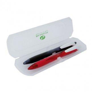 Parure stylos publicitaire en plastique recyclé - REXGRIP