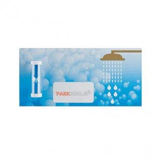 Petit sablier de douche sur carte postale publicitaire - WATERTIME