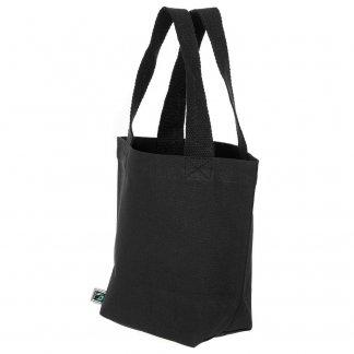 Petit sac avec fond promotionnel en coton biologique et équitable - 280g - 21x26x10cm - Noir - LEDBURY