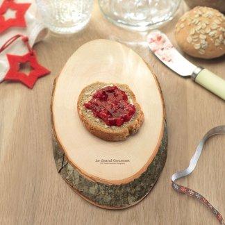 Planche à découper ovale personnalisable en bois avec écorce - avec marquage - ELLWOOD RUNDA