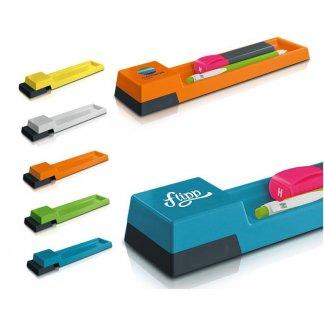 Plumier-règle promotionnel de 20 cm en plastique polystyrène - Toutes couleurs - POP CASE