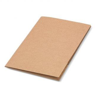 Pochette A4 promotionnel en carton naturel - fermé - NATURECO