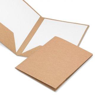 Pochette A4 publicitaire en carton naturel - NATURECO