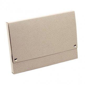 Pochette A4 publicitaire en carton recyclé - bouton pression - PAOLA