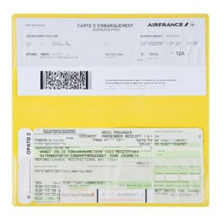 Pochette de voyage 2 poches publicitaire en PVC - ouvert