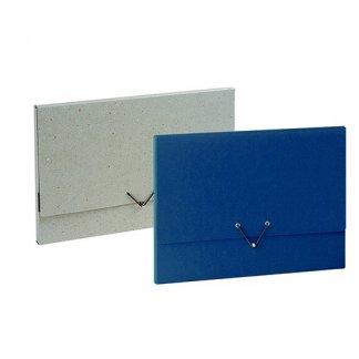 Pochette publicitaire en carton recyclé - bouton métal - ANDREA