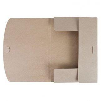 Pochette publicitaire en carton recyclé - fermeture encliquetage - ouverte - AGUS