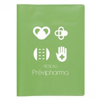 Pochette santé 3 poches publicitaire en PVC - Marquage 1 couleur