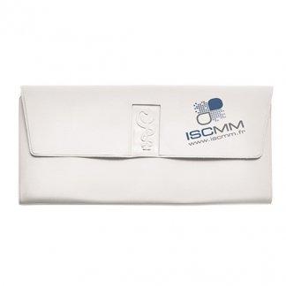 Pochette santé 4 poches avec caducée préformé publicitaire en PVC - Marquage 2 couleurs