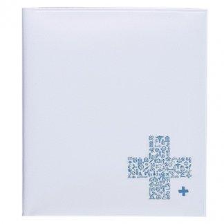 Pochette santé 4 poches publicitaire en PVC - Marquage 1 couleur